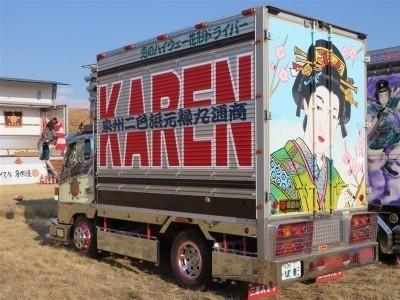 大阪オートメッセ2015にデコトラ元禄丸とモデル古澤未来ちゃんと共にトラックスピリッツ出展 3