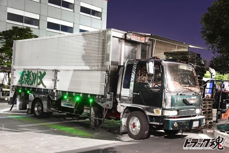 【仕事車礼讃】大川商事の日野レンジャー自由!六連丸型テールランプ 2