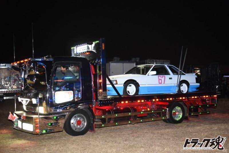 Photo of 菅原文太追悼式の変わり種参列車、トラック以外にもいろいろな車両が来ていました。