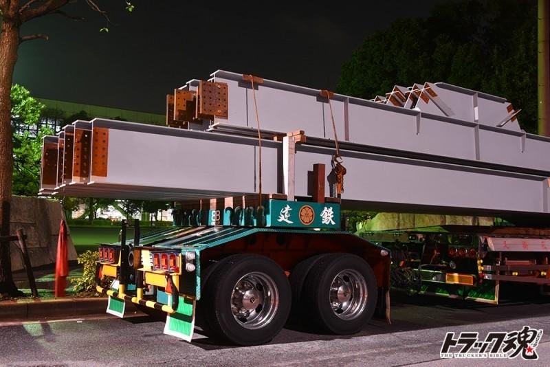 【仕事車礼讃】建鉄の日野プロフィア平ボディトレーラー連結という珍しいパターン 3