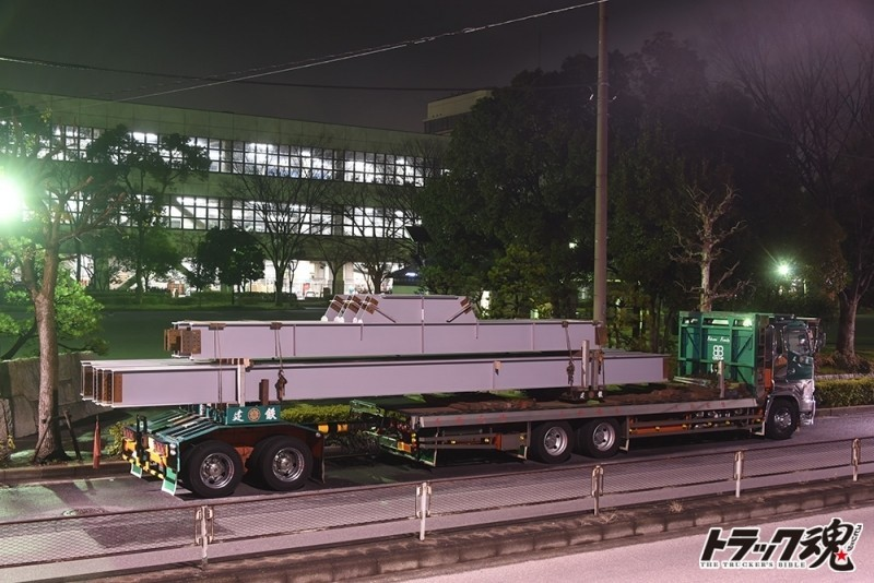 【仕事車礼讃】建鉄の日野プロフィア平ボディトレーラー連結という珍しいパターン 4